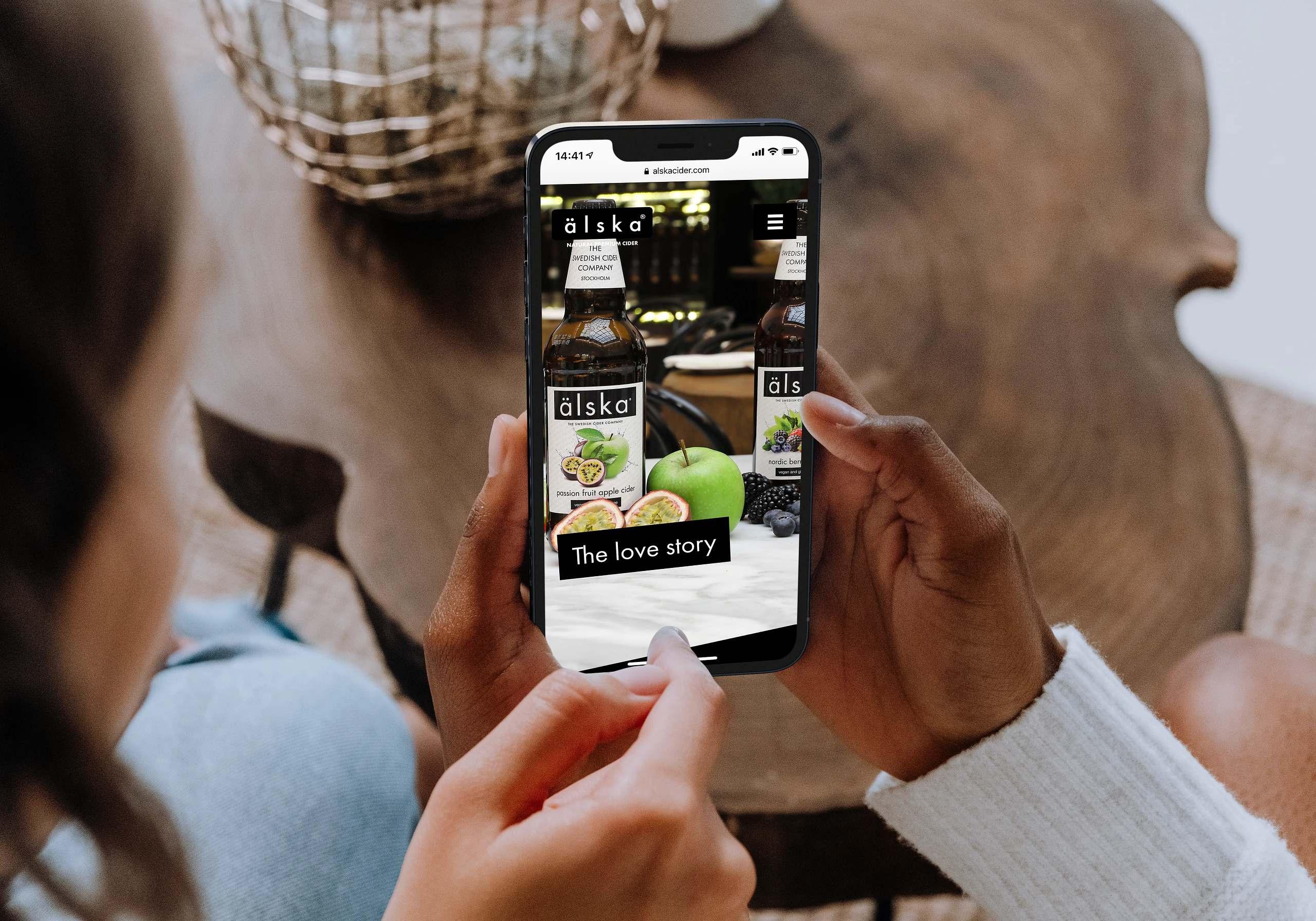 Webbson bygger en mobilanpassad hemsida till Älska Cider