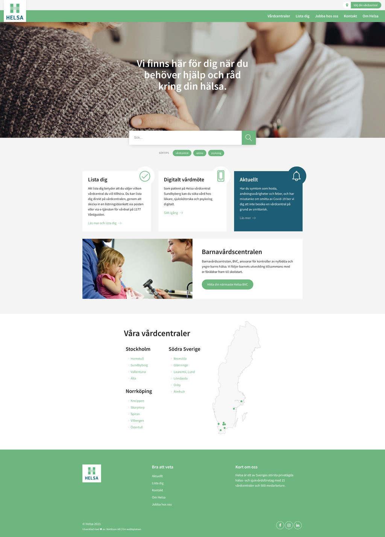 Webbson har byggt en mobilanpassad webbplats till Helsa Vårdcentral